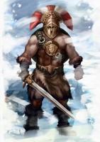 Варвар-воин для карт фэнтези