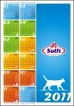 Вариант календаря для компании Солфи
