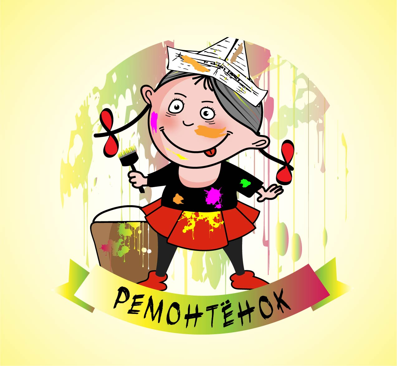 Ремонтёнок: логотип + брэндбук + фирменный стиль фото f_0165956229b53915.jpg