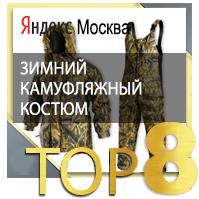 зимний камуфляжный костюм ТОП 8 Yandex Москва