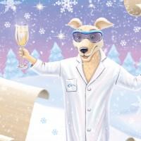 Иллюстрация для новогоднего тубуса