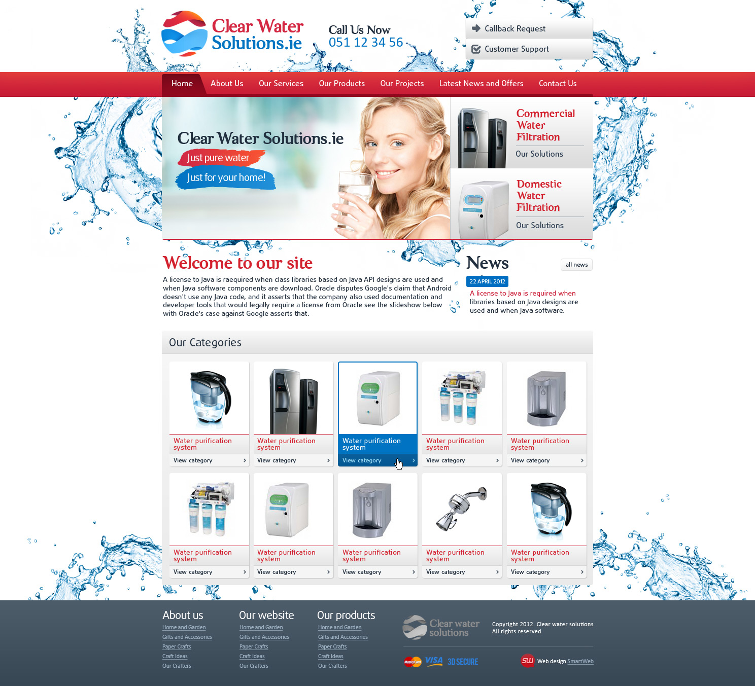 Верстка Clear Water solutions