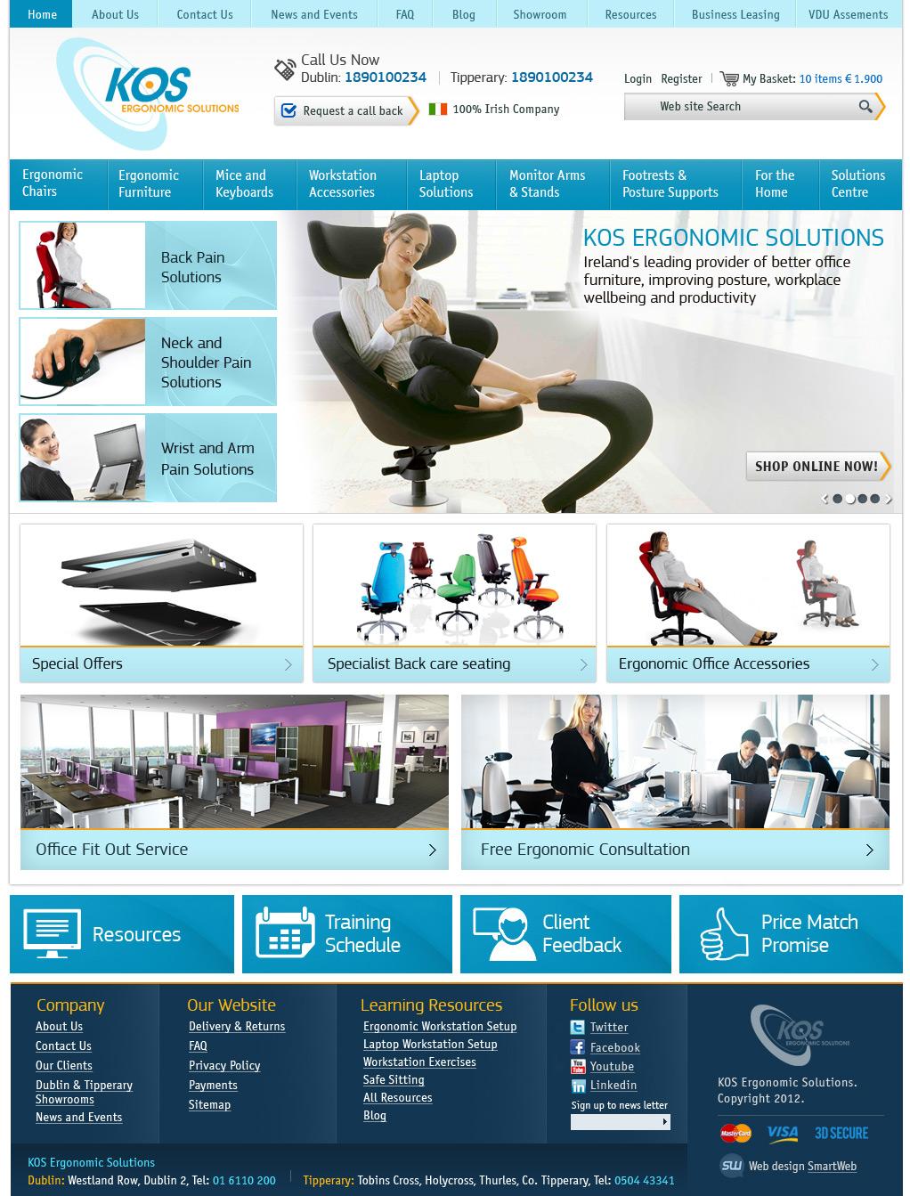 Верстка KOS - ergonomic solutions