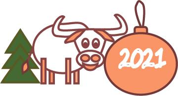 Создать рисунки быков, символа 2021 года, для реализации в м фото f_2615ee3e7216826b.jpg