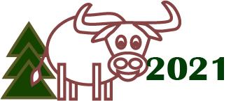 Создать рисунки быков, символа 2021 года, для реализации в м фото f_4915ee3e711a4378.jpg