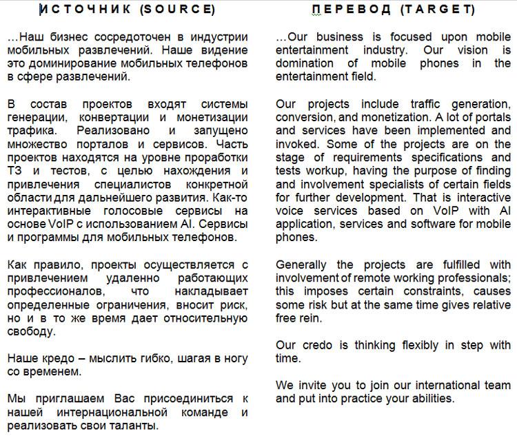 Сервис монетизации (фрагмент) RU-EN
