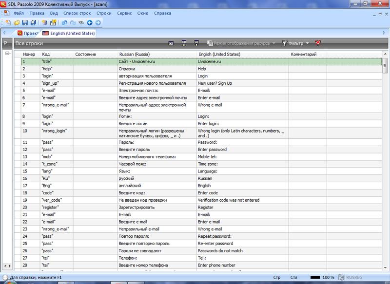 Ресурсный файл для сайта RU-EN