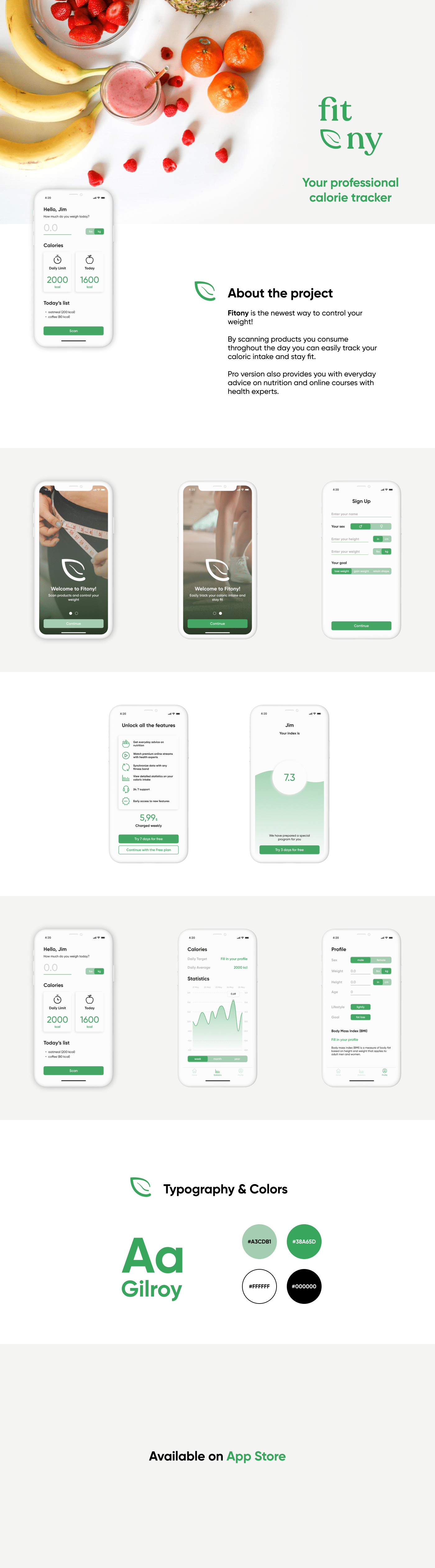 Fitony App — control your weight