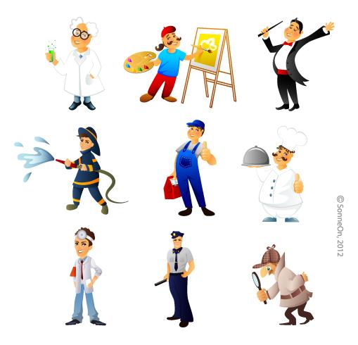 Люди разных професий