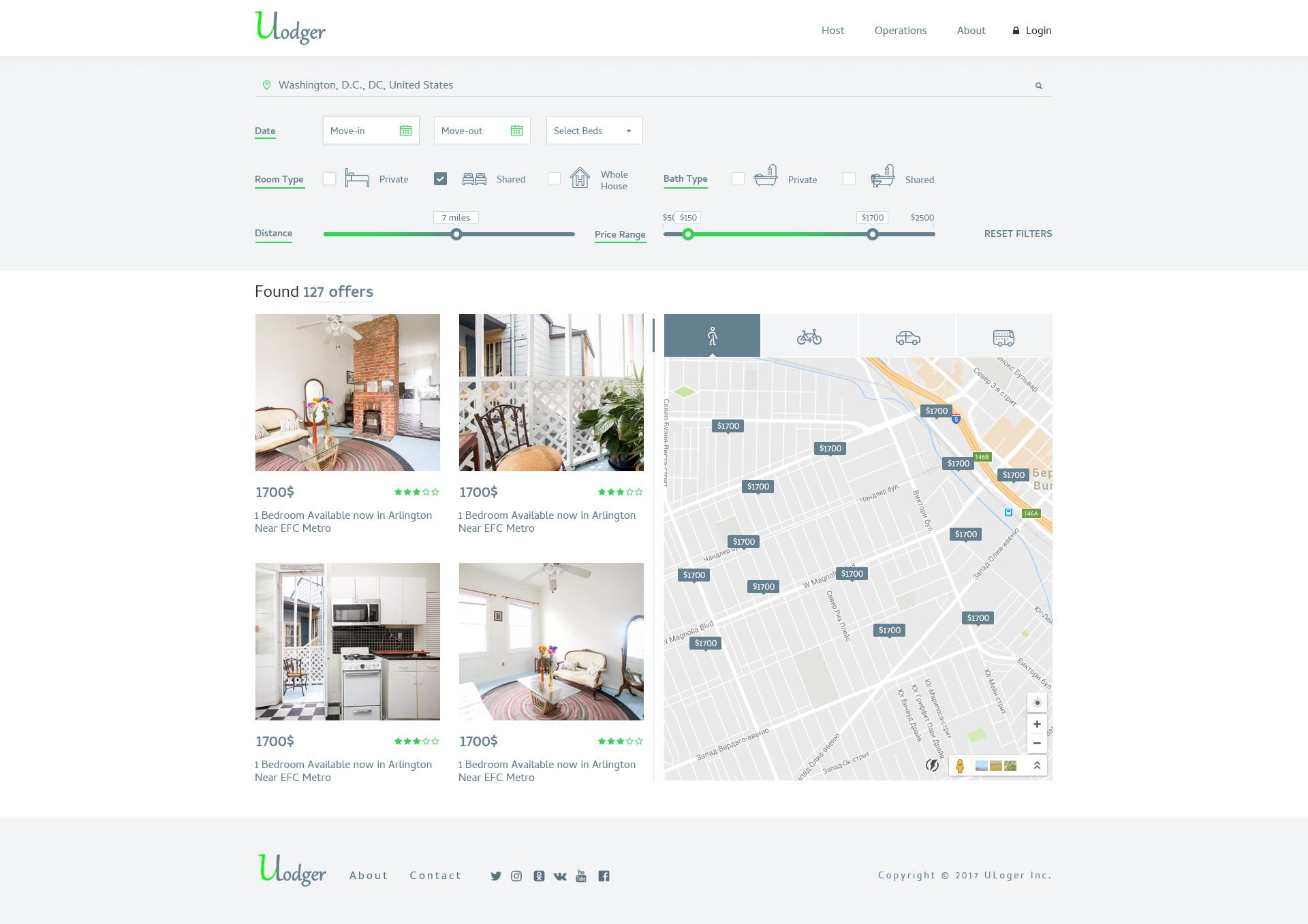 Ulodger - платформа для аренды жилья