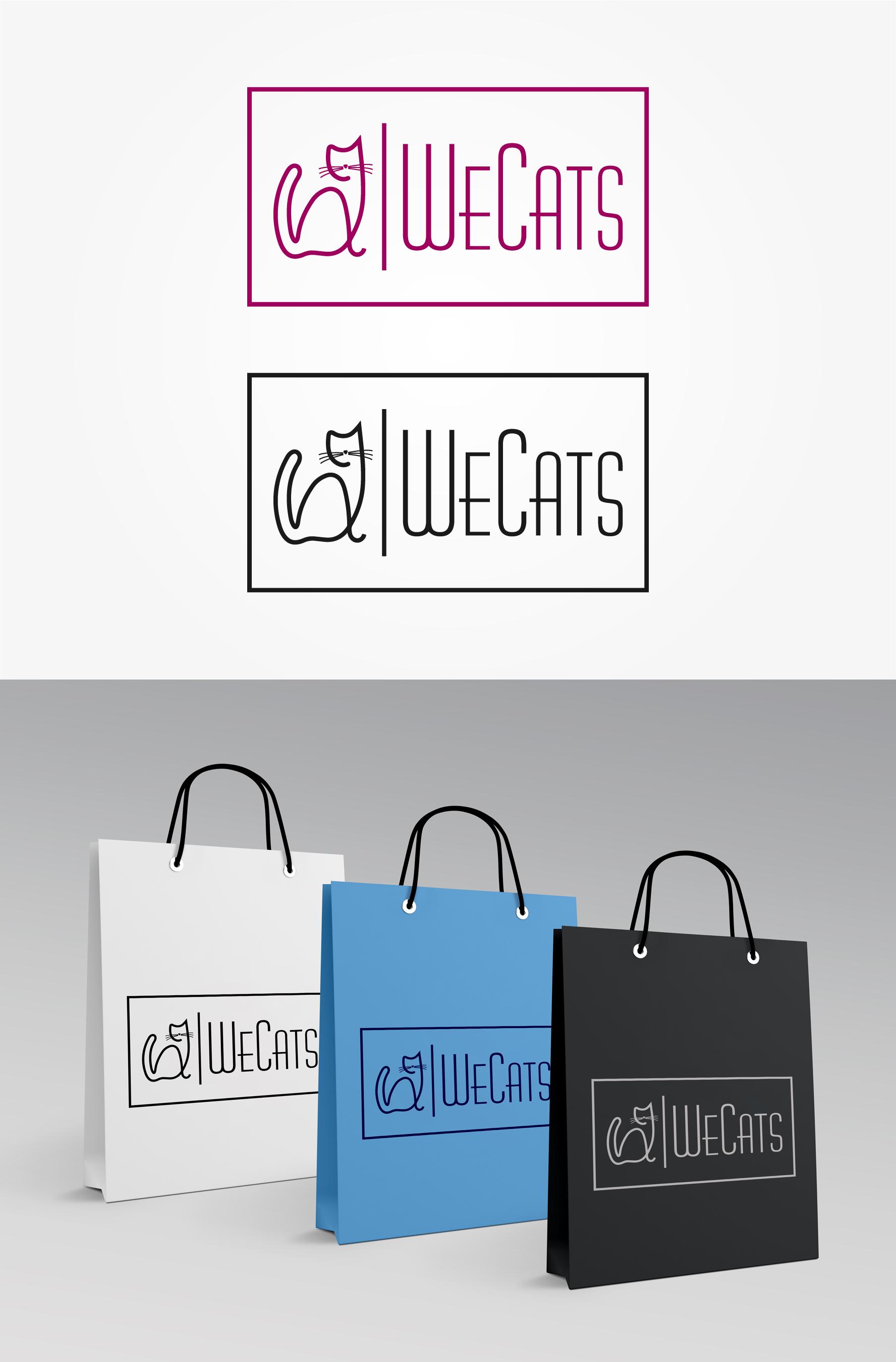 Создание логотипа WeCats фото f_1515f188f7c406b9.jpg