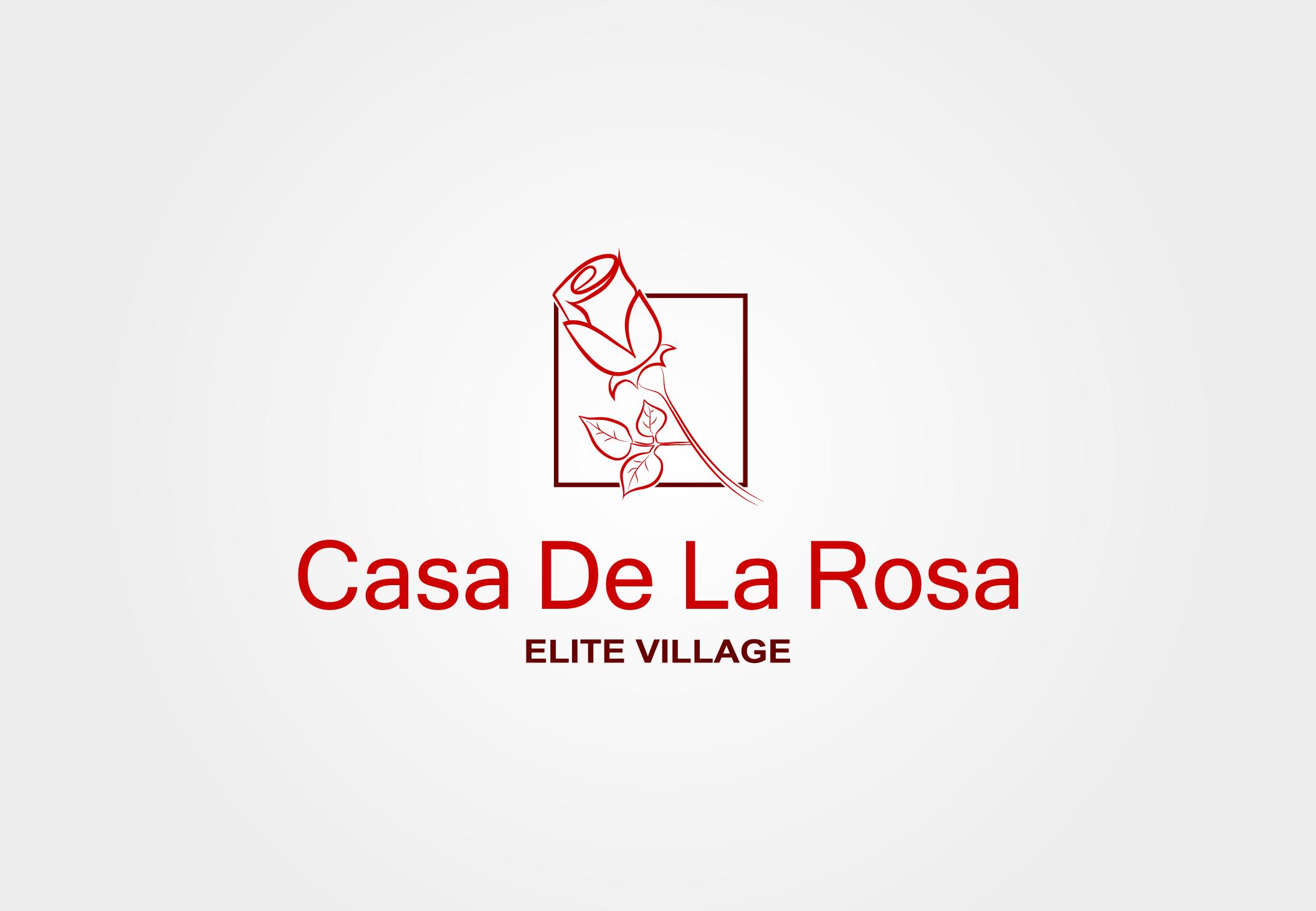 Логотип + Фирменный знак для элитного поселка Casa De La Rosa фото f_3575cd6a5f510dd9.jpg