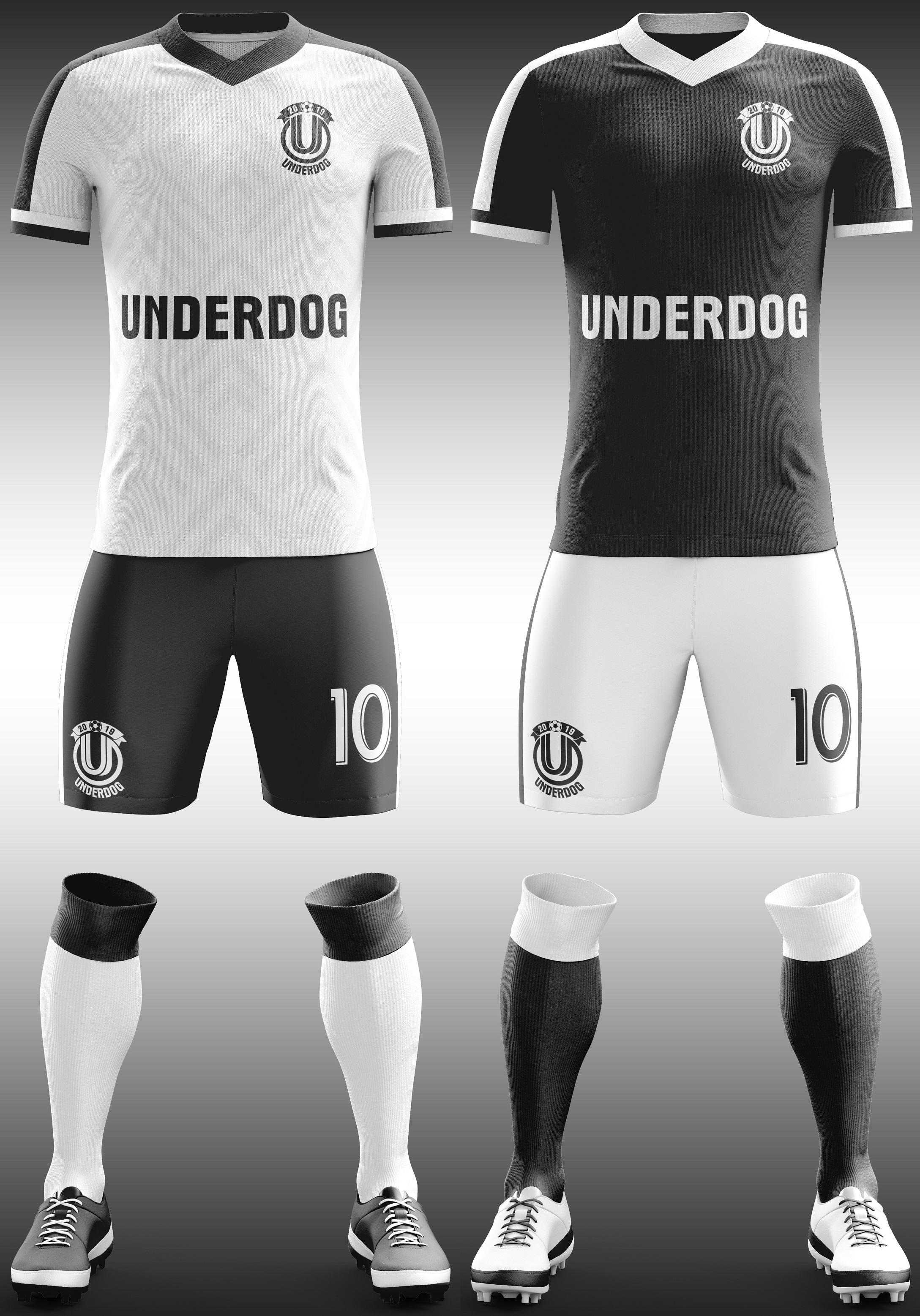 Футбольный клуб UNDERDOG - разработать фирстиль и бренд-бук фото f_7305cb05f214744f.jpg