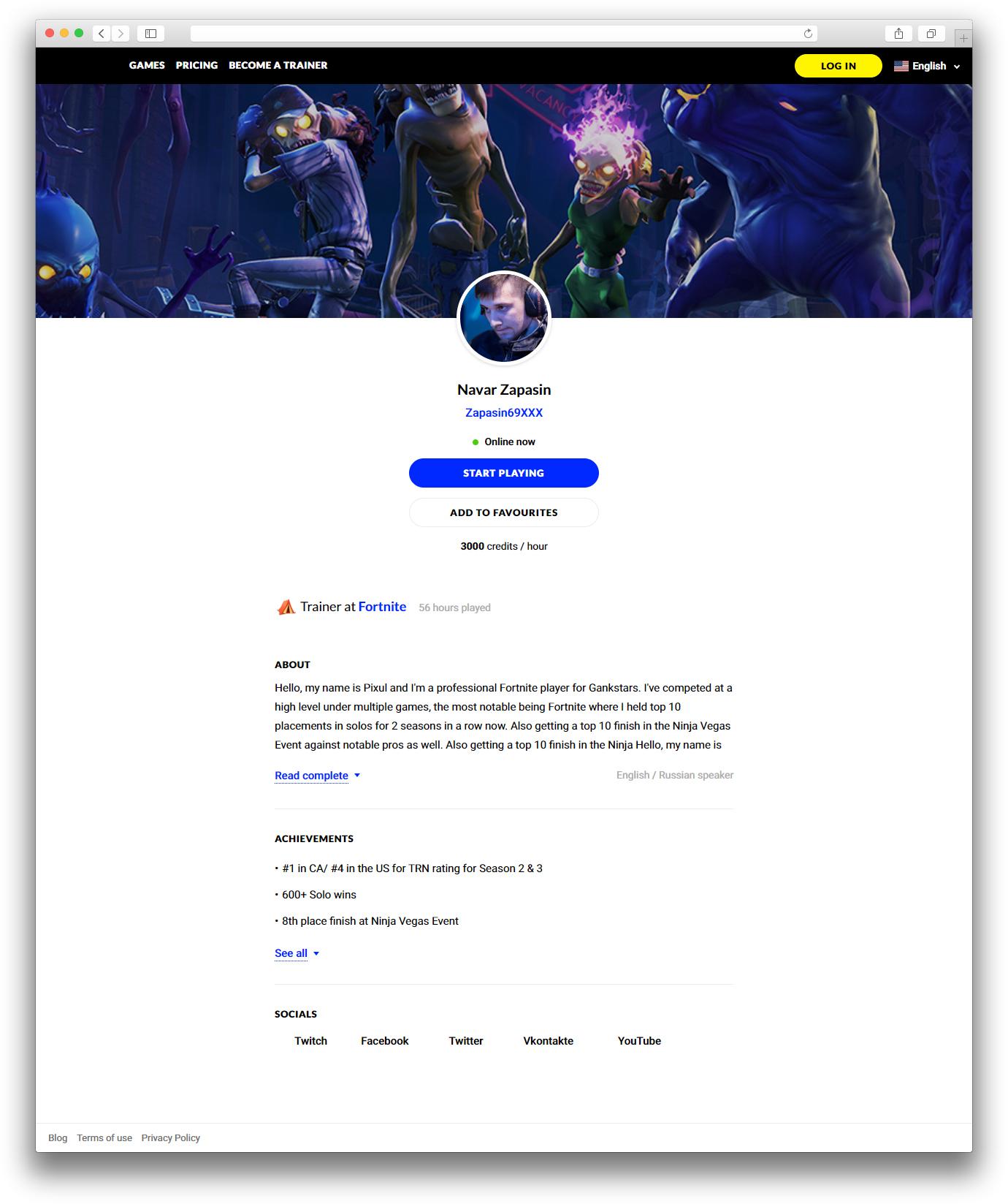 Сервис на Laravel для геймеров