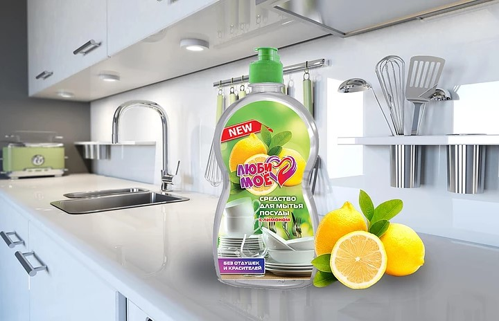 Этикетка для средства для мытья посуды