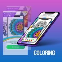 Дизайн Мобильного приложения Раскраска