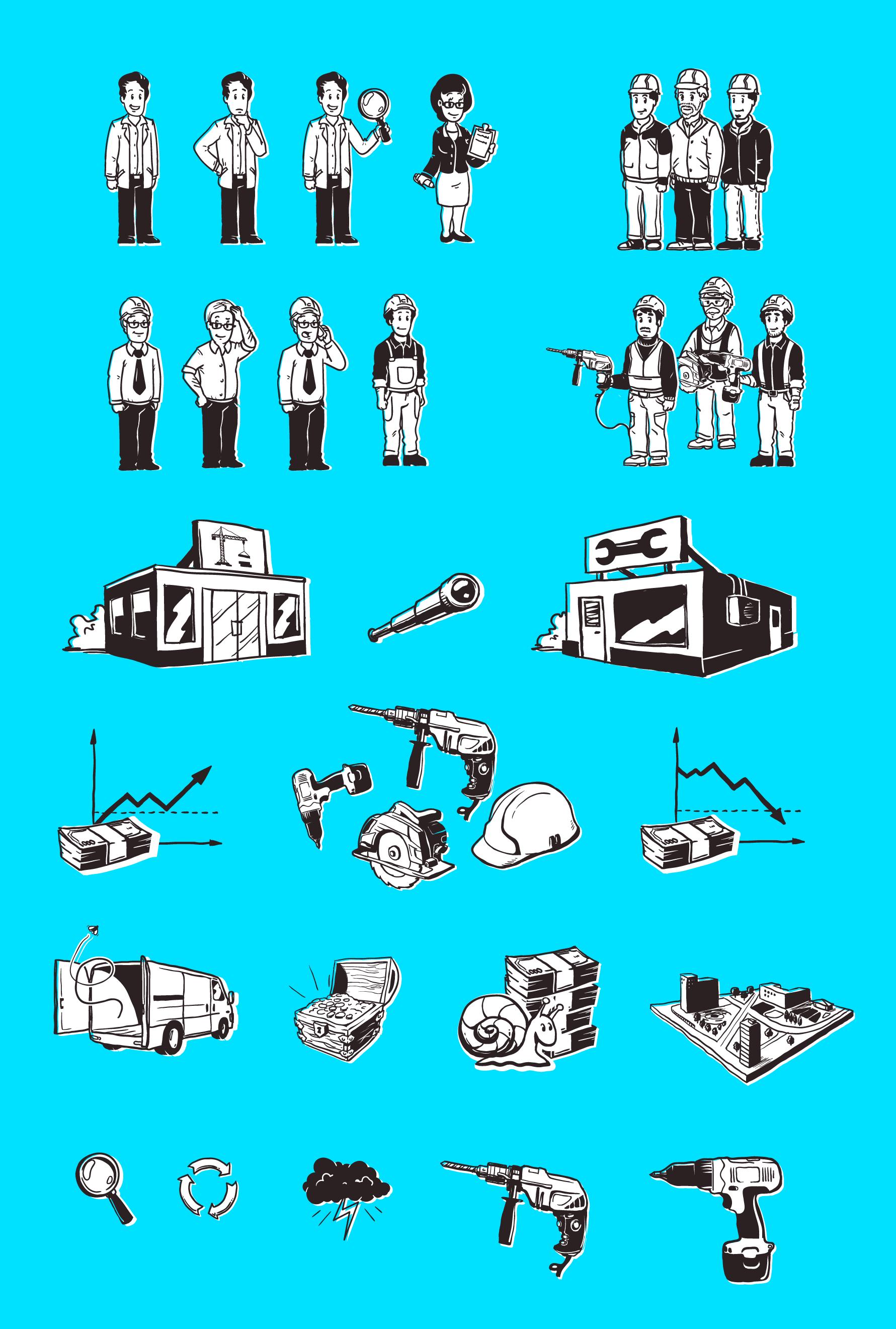 Разработка дудл-иллюстраций