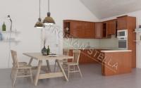 Интерьер кухни из красного дерева 2