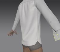 Модель рубашки (вид сзади)