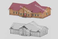 Моделинг и текстурирование lowpoly здания станции Совгавань для VR приложения