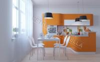 Интерьер оранжевой кухни 3