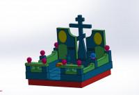 Моделинг и сборка памятника 3 в SOLIDWORKS