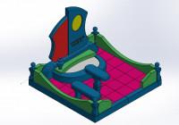Моделинг и сборка памятника 2 в SOLIDWORKS