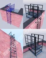 Лестница прямая наружная (3d визуализация)