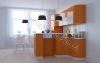 Интерьер оранжевой кухни 2