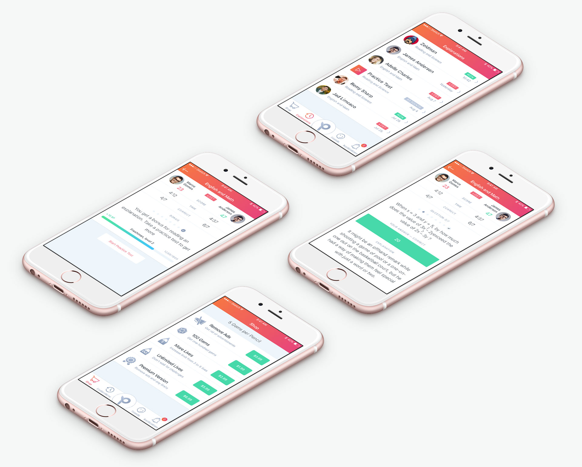 Приложение Student Challenges App