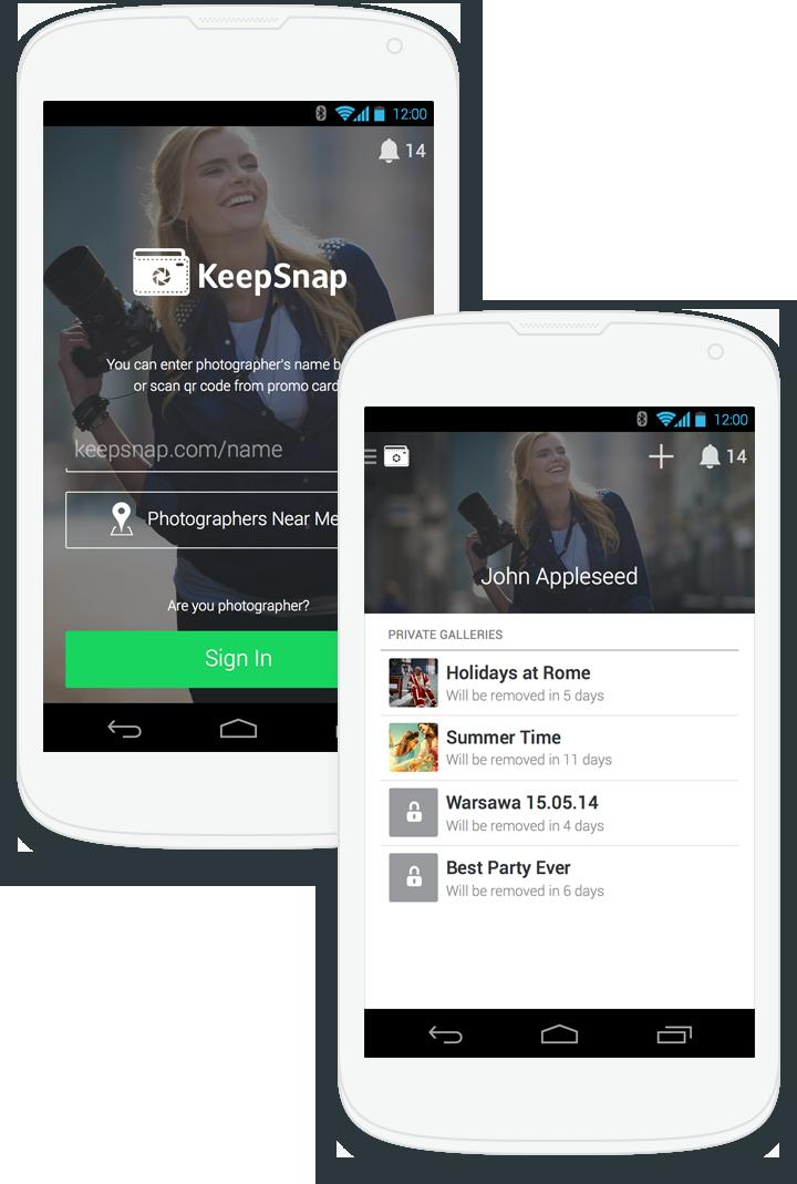 Приложение KeepSnap для Android