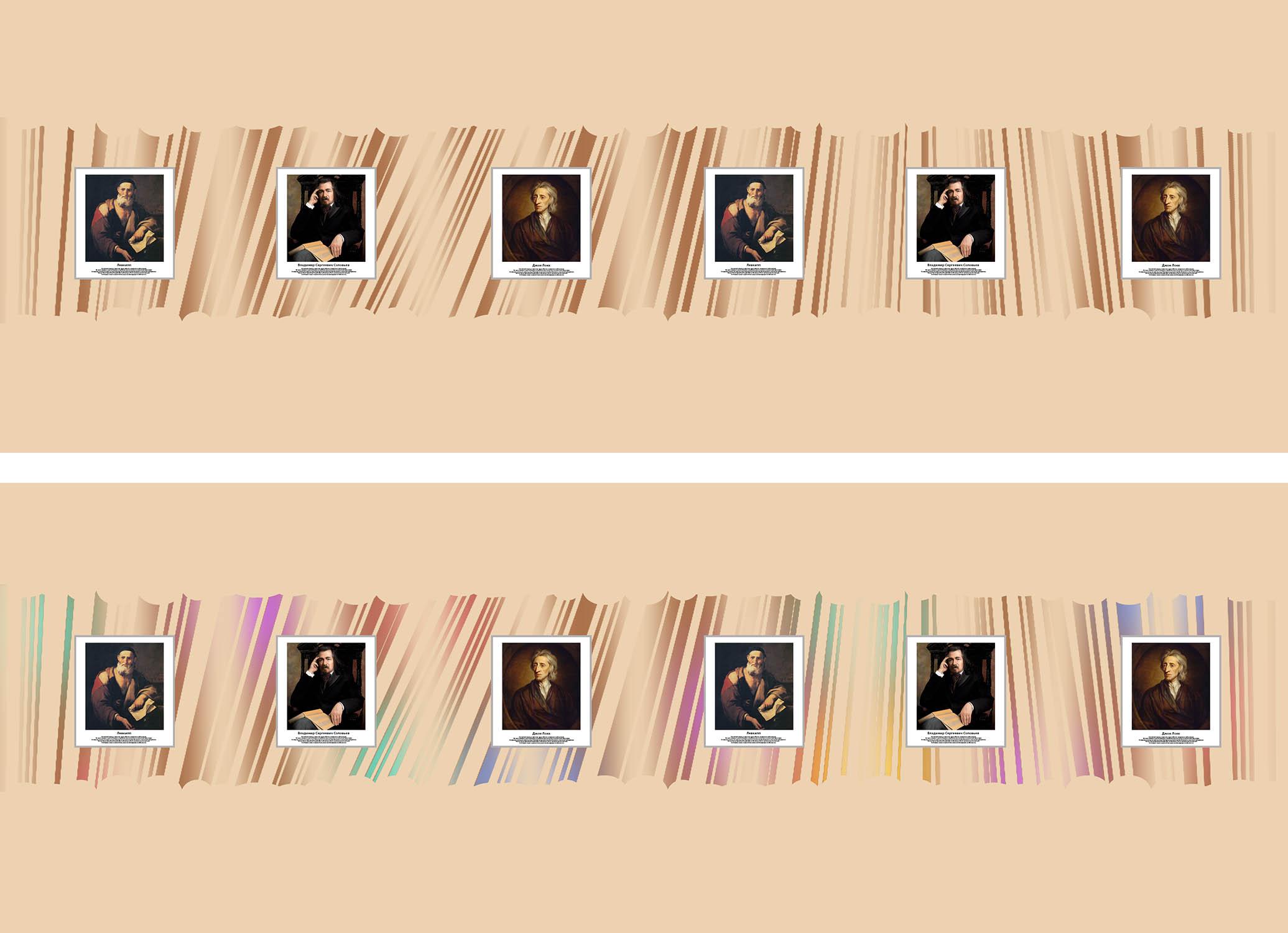 Предложить идею оформления портретов (с информацией) на стене фото f_3535e1caaf6eee38.jpg