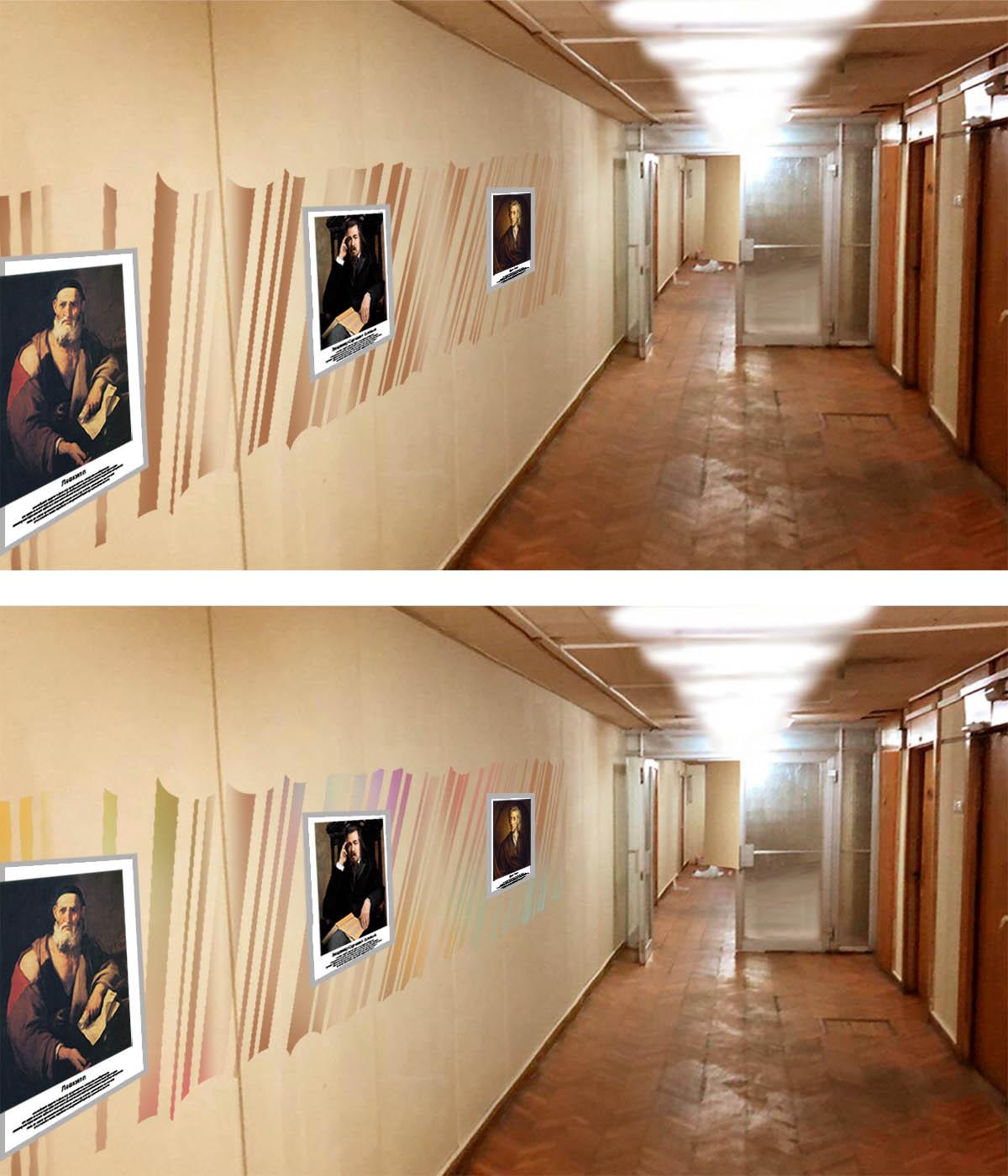 Предложить идею оформления портретов (с информацией) на стене фото f_8075e1caafbf0a27.jpg