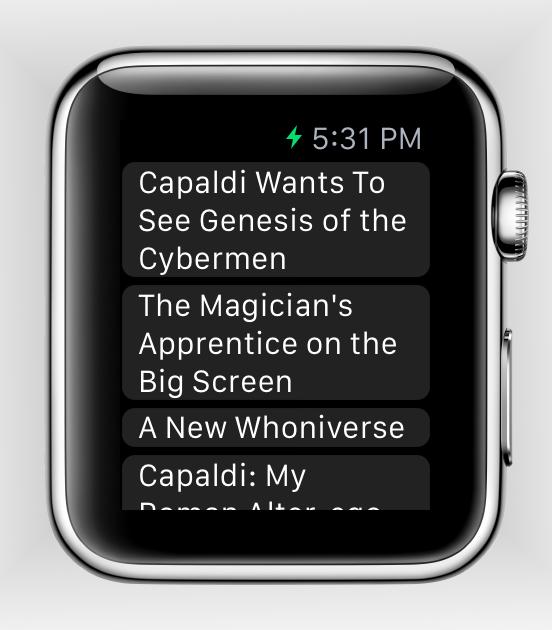 Расширение для Apple Watch