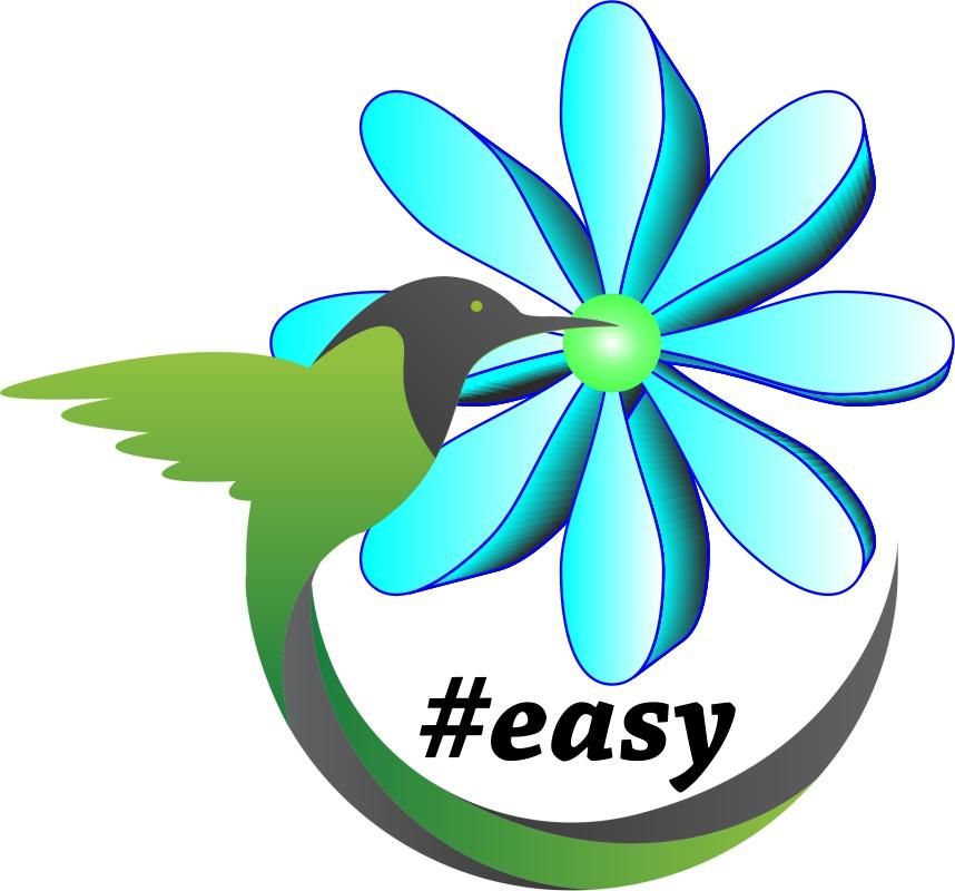Разработка логотипа в виде хэштега #easy с зеленой колибри  фото f_1835d4eaf32025c9.jpg