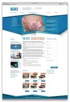 Макет сайта по продаже водоматрасов, версия 2