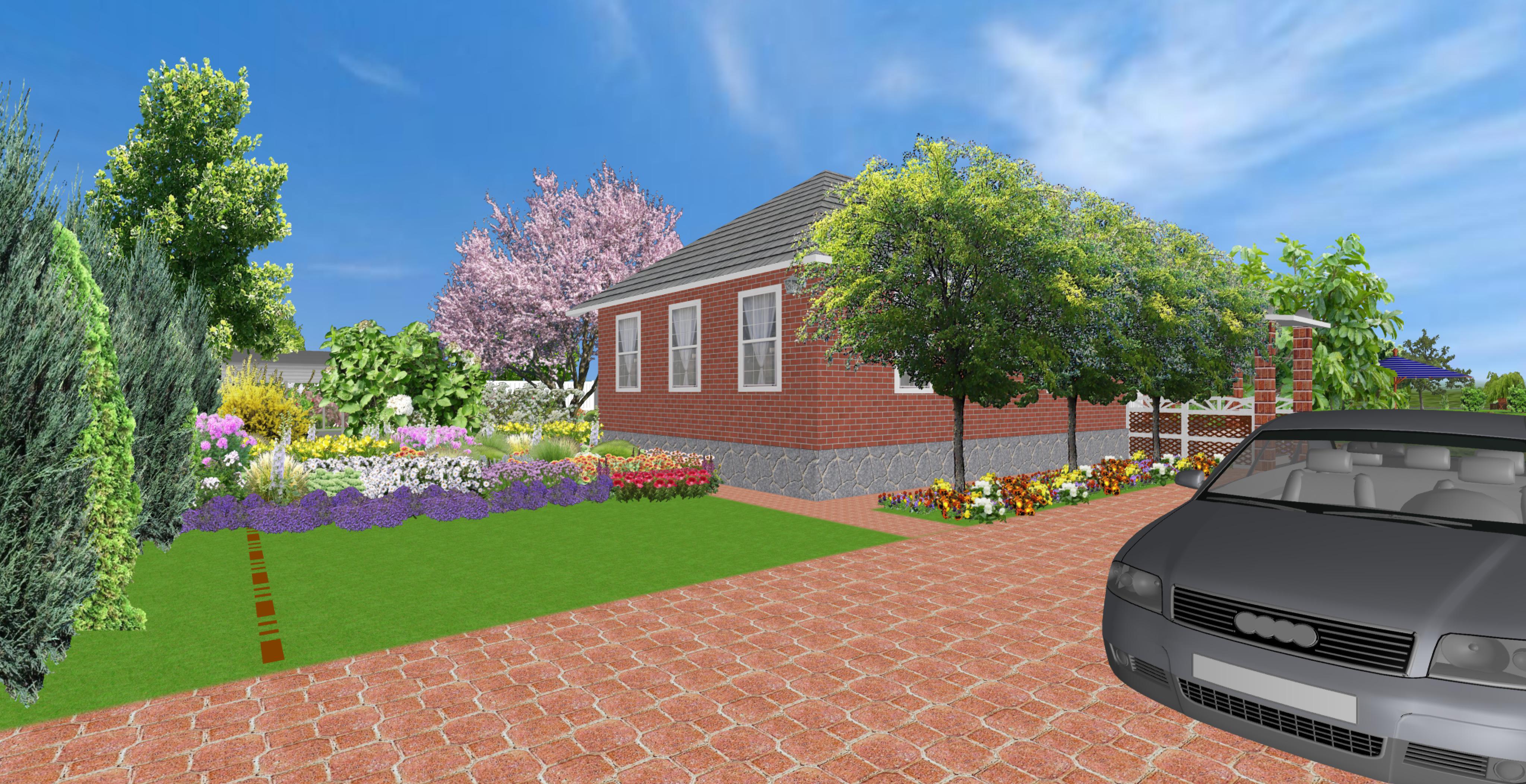 прект загородного дома2 въезд во двор
