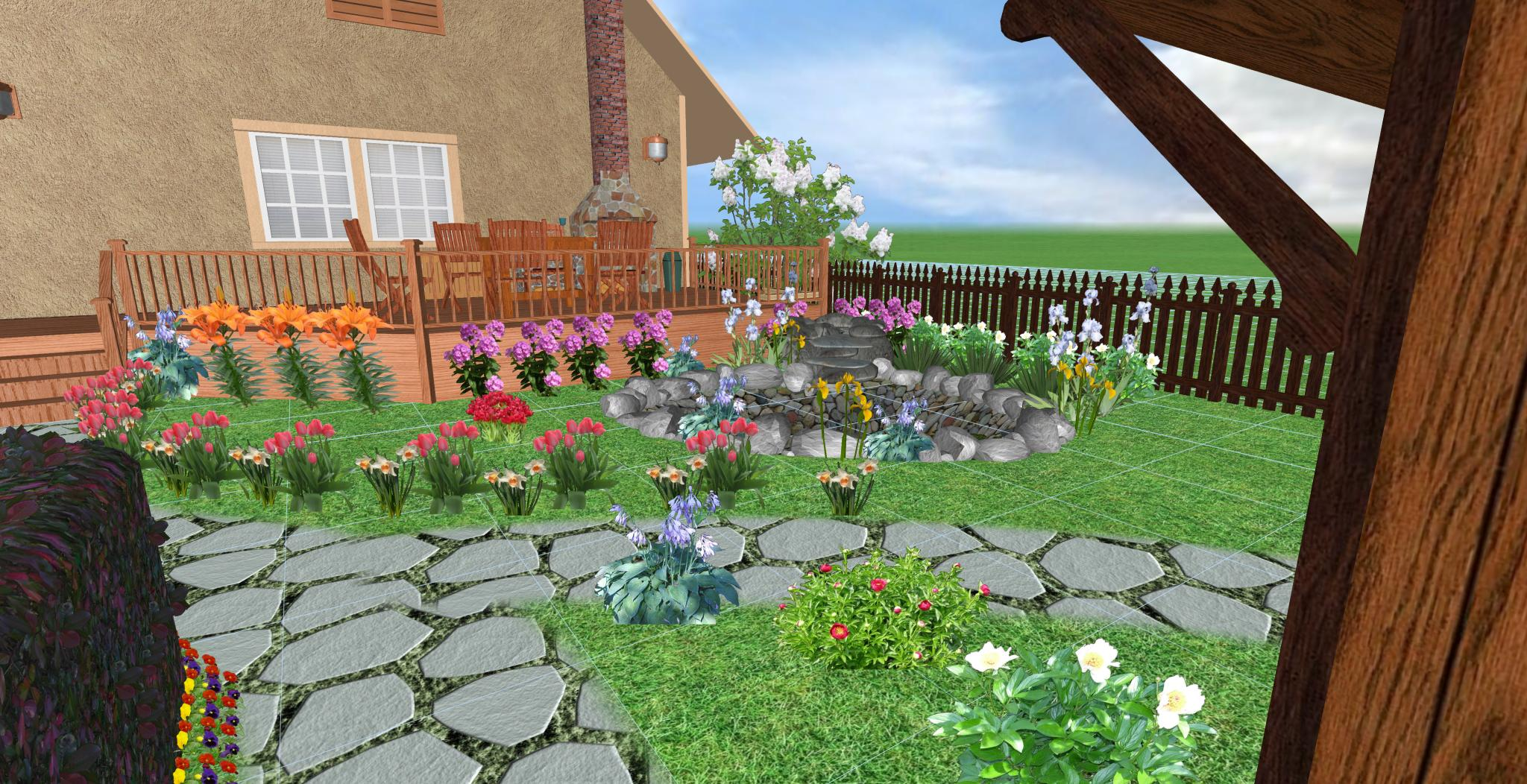 проект загородного дома, зона отдыха