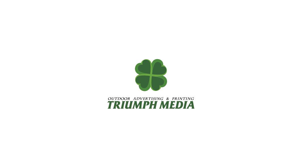 Разработка логотипа  TRIUMPH MEDIA с изображением клевера фото f_506ece8e2f493.png
