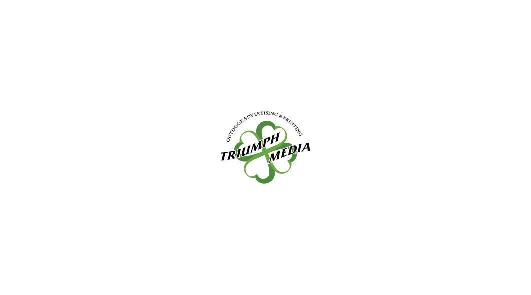 Разработка логотипа  TRIUMPH MEDIA с изображением клевера фото f_506edd477c3d9.png