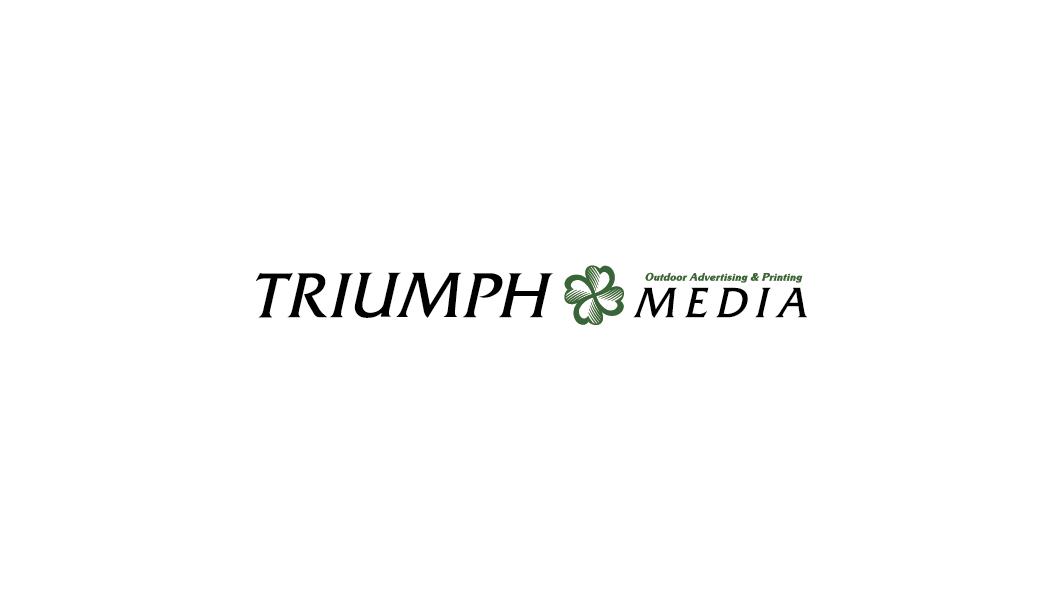 Разработка логотипа  TRIUMPH MEDIA с изображением клевера фото f_506f0d9266690.png