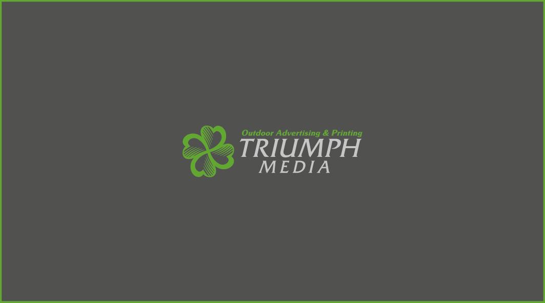 Разработка логотипа  TRIUMPH MEDIA с изображением клевера фото f_506f3cf8b6a2d.png