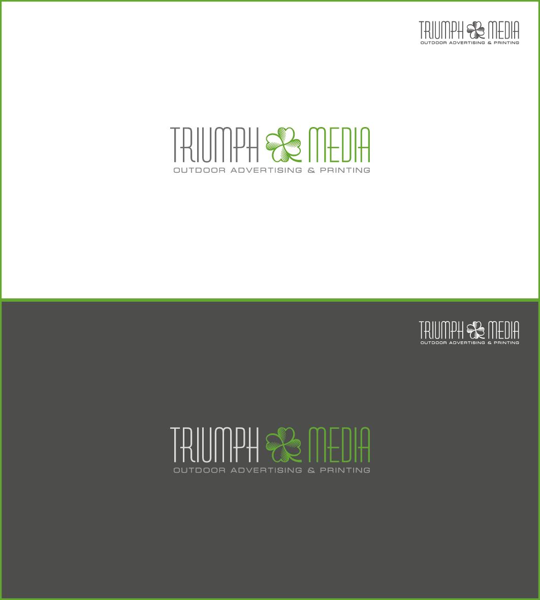 Разработка логотипа  TRIUMPH MEDIA с изображением клевера фото f_50709333d4d23.png