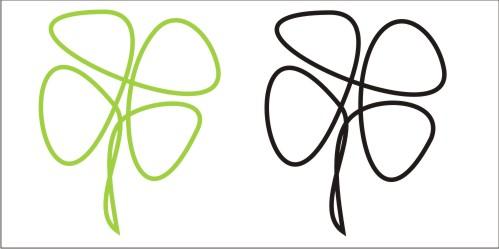 Разработка логотипа  TRIUMPH MEDIA с изображением клевера фото f_507297dba06f3.jpg