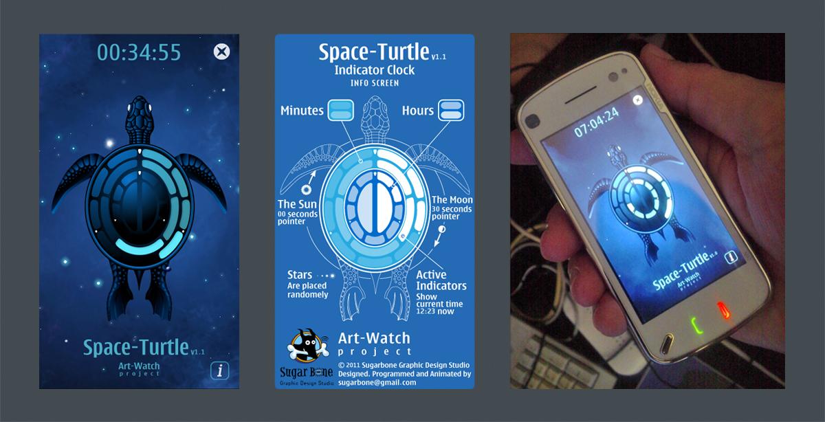 TurtleClock приложение к моб телефону