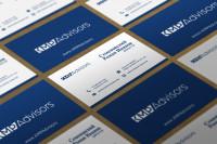 визитка и фирм стиль kmp advisors