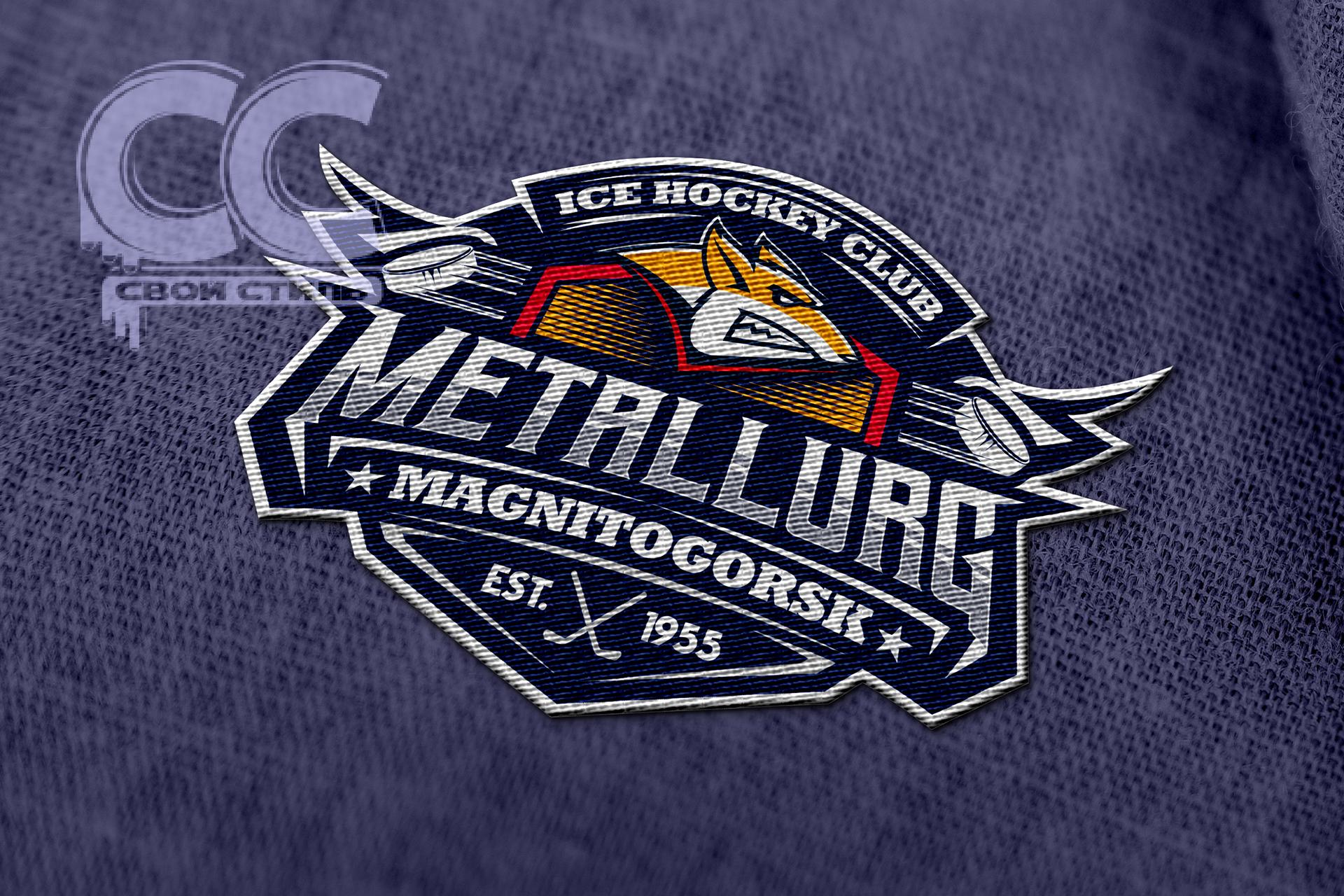ЛОГОТИП - ШЕВРОН - ХК METALLURG - Дизайн шеврона для хоккейной экипировки