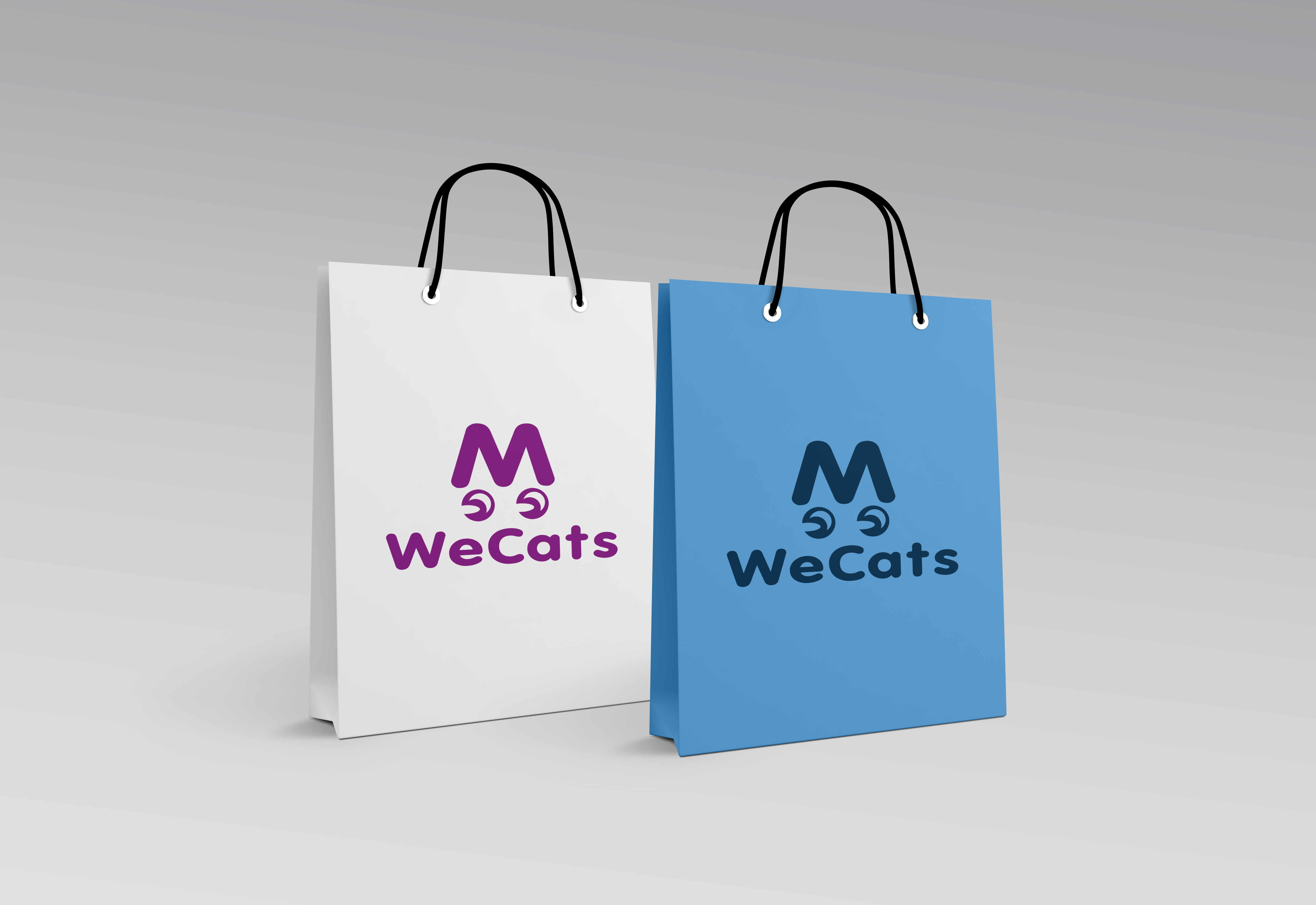 Создание логотипа WeCats фото f_4865f1acd497812f.jpg