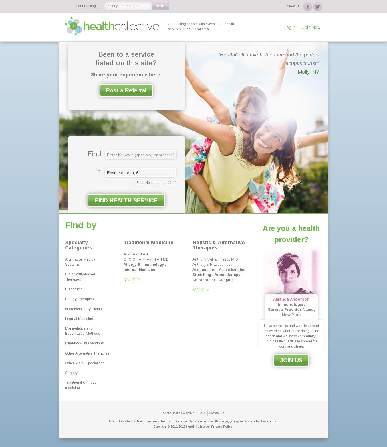 Социальная сеть для работников медицинской отрасли