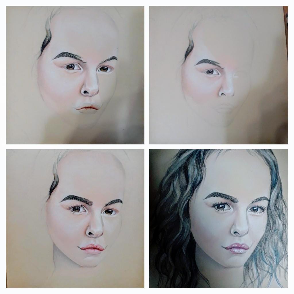 Портрет карандашами